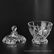 Стеклянная чаша с крышкой