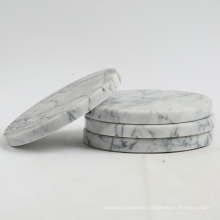 Hexagon white marble coaster or trivet