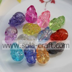 14*21 MM Factory Wholesale Acrylic Crystal Skull Beads