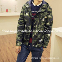Wholesale Camouflage Printing Men Winter Hoodies Jackets