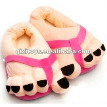 cute stuffed and plush feet indoor shoes