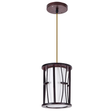 Home indoor pendant lighting with wood materials