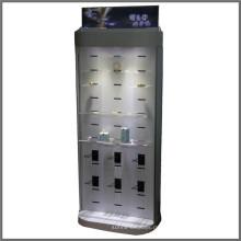 Freistehende Metall Haken Holz Handy Ladegerät Display Beleuchtung Mobile Zubehör Batterie Display