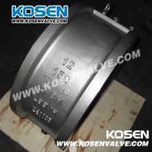 API Wafer Dual Plate Stahlguss Rückschlagventil