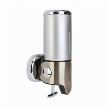 Silver 500ml Stainless Steel+ABS Plastic Wall-Mountained Liquid Soap Dispenser