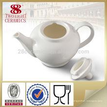 Chaleira cerâmica decorativa decorativa de mesa branca e pote de chá para uso diário