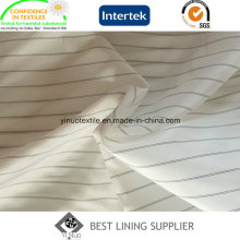 Polyester Black and White Men′s Suit Sleeve Lining Fabric Supplier