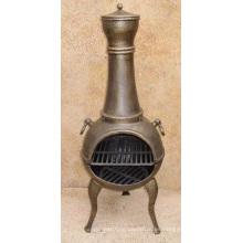 Parrilla de barbacoa de chimeneas de hierro fundido (FSL029), chimenea al aire libre