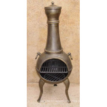 Cast Iron Chiminea BBQ Firepit (FSL029) , Outdoor Fireplace