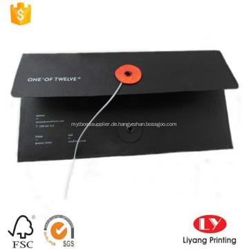 A4 schwarz Business Briefumschlag mit Schnur