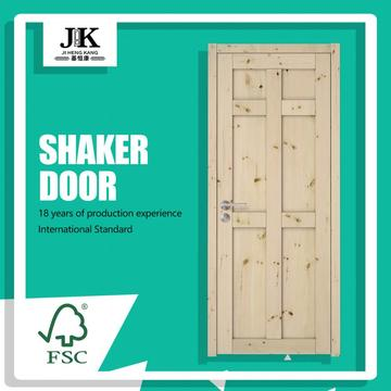 JHK-SK06 Panel Wooden Door Design For Interior Shaker Sliding Door