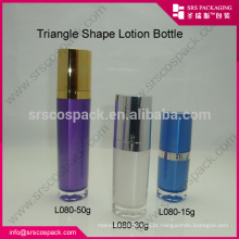 Personalizado Any Color Supply Free Sample, 15ml 30ml 50ml plástico acrílico loção Skincare embalagem e triângulo 50ml garrafa spray