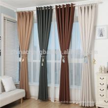 Nuevos diseños modernos y elegantes cortinas blackout para el hotel de la sala de estar