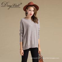 Großhandel große stricken rundhals wolle pullover für dame frauen pullover
