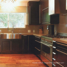 Beech Wooden Kitchen Cabinet Simple Design