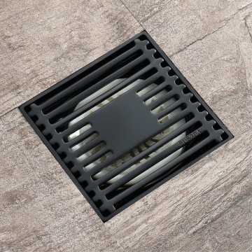 Modern Black Stainless Steel Drains Bathroom Floor Drain