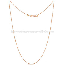 Most Fashionable Standard Size 18 Inch Gold Vermeil Brass Chain