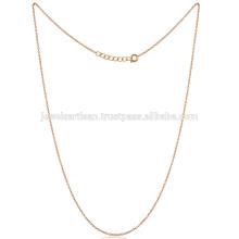Самые Модные Стандартный Размер 18 Дюймов Золото Vermeil Латунь Цепи