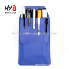 Cheap thick pu leather pen bag