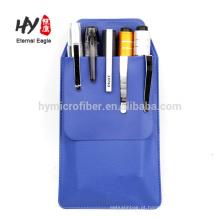 Cheap saco de caneta de couro pu grossas