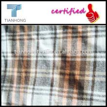 hilado teñido de tela de franela con tela de franela de tela/tejido de franela de cuadros amarilla de la construcción