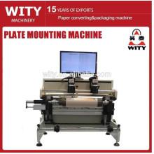 Máquina de montaje de placas flexo de tipo sin eje