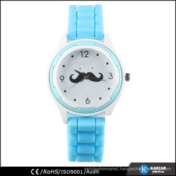 stainless steel back waterproof silicone women watch funny
