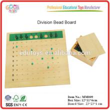 Montessori material división perla de la Junta