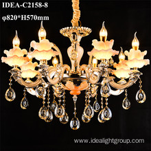 decorative hanging candle lighting crystal chandelier