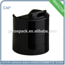 rotatable end caps black disc top cap bottle cap