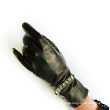 Mode neue Stil Schwäne Handschuhe mit einer Perle Kette