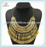 Women Vintage Coin Statement Necklace, Elegant Jewelry Accessory, Charming Jewelry Set