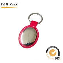 Logo Customized Red Color Leather Keychain