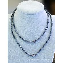 Mode Umwelt Hemitit Perlen Halskette Schmuck Bijour