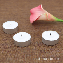 Venta al por mayor 8g mini velas tealight en lata