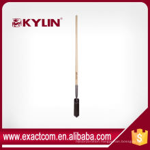 CONSTRUCTION SHOVEL SPADE WITH LONG WOOD HANDLE