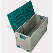 LESP-All Weather Outdoor garden patio Resin Horizontal Storage deck box
