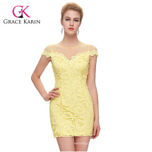 GK Sexy Women's Slim Fit Cap Sleeve Party Lace Mini Dress CL009851-1