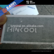 Impression imprimée imprimée sur papier de cartes de visite