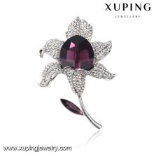 00051 parfait bouquets de mariage de qualité supérieure avec broche cristaux fins de Swarovski, bijoux à la mode