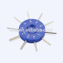 Medidor de orifício óptico para parafusos