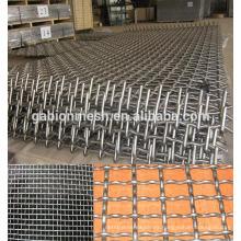6mm apertura negro alambre rizado malla de alambre China proveedor