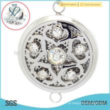 Aço inoxidável aroma difusor pingente medalhão, oca de aço inoxidável aromaterapia jóias locket