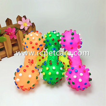 Dog Toys Colorful Dotted Dumbbell Shaped Dog Toys