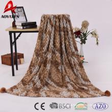 2018 nuevo diseño súper suave cepillado e impreso manta de lana de punto pv fleece
