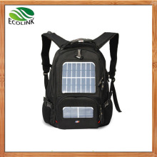 Black Solar Charger Backpack for Traveling/Laptop/Sports