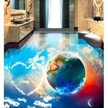 Versorgung 3D Boden Aufkleber, 3D Boden Abziehbilder, 3D Badezimmer ...