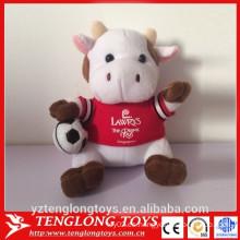 China fábrica de encargo de peluche vaca de juguete de productos promocionales