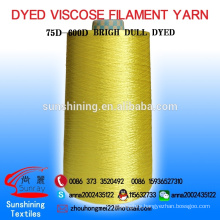 VISCOSE FILAMENT YARN ,CAKE DYED,CONTINUOUS DULL , 600D
