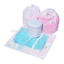 Wholesale recycled mesh laundry bag with zipper lock
